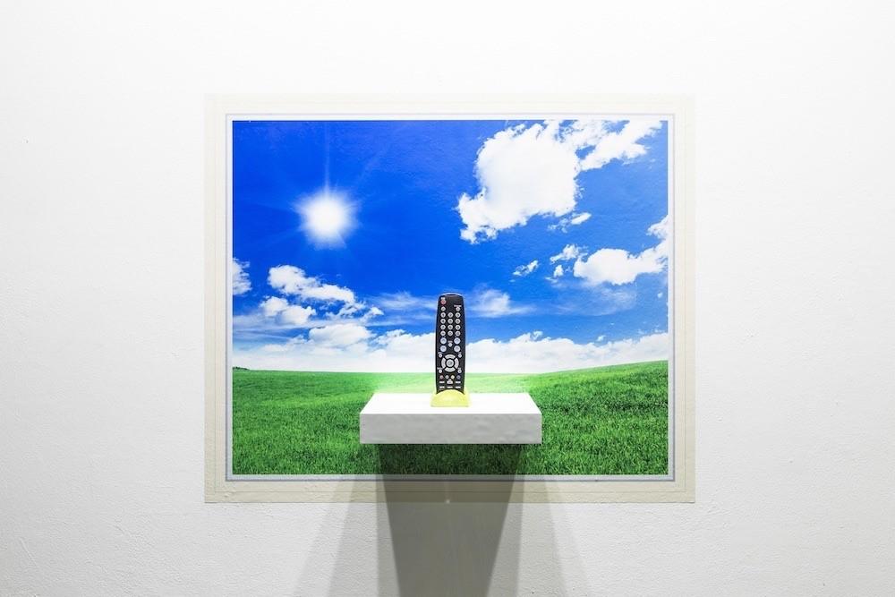 창문그림액자 F타입-끝없이 펼쳐진 들판과 전시 리모컨 Window Picture Frame Type F-Endless Field and Remote Control